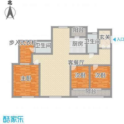 浦江盛景湾128.00㎡浦江盛景湾3室户型3室