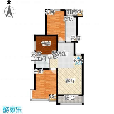 金地国际花园二期120.00㎡金地国际花园(二期)3室户型3室