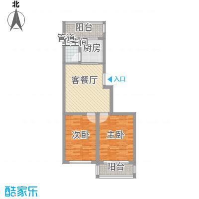 后林新村77.87㎡后林新村户型图16、21号楼2室1厅1卫户型2室1厅1卫