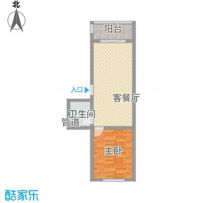 后林新村65.00㎡后林新村户型图1室2厅1卫户型10室