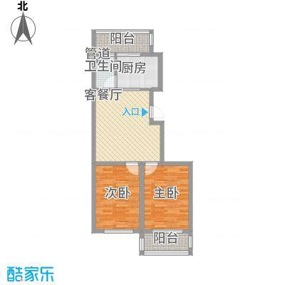 后林新村80.00㎡后林新村户型图2室1厅1卫户型10室
