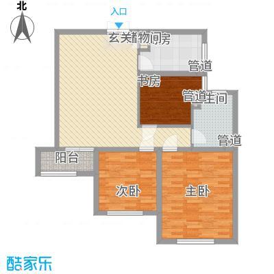 浦江盛景湾111.00㎡浦江盛景湾2室户型2室