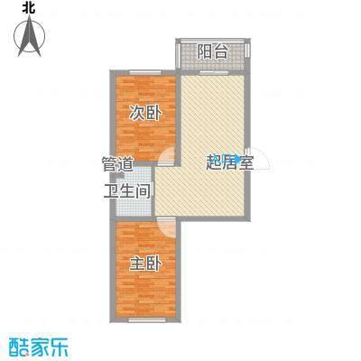 后林新村80.00㎡后林新村户型图2室2厅1卫户型10室