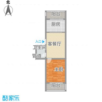 后林新村67.52㎡后林新村户型图13号楼1室1厅1卫户型1室1厅1卫