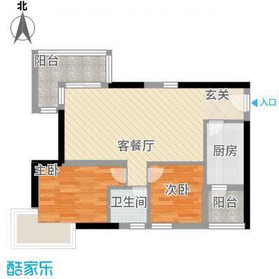 缤城乐家72.53㎡缤城乐家-Y4-03单位户型10室