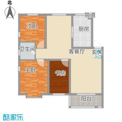 东盛花园140.00㎡东盛花园3室户型3室