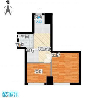 同方世纪大厦55.47㎡同方世纪大厦户型图H户型2室1厅1卫户型2室1厅1卫