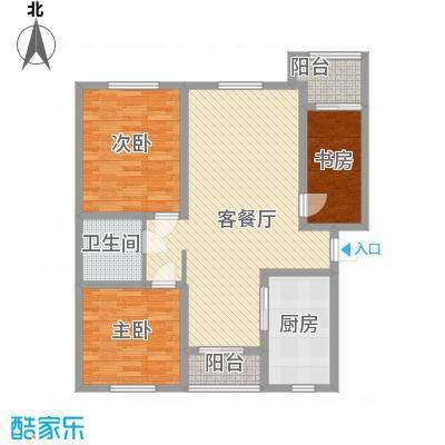 恒盛・阳光尚城三期114.00㎡恒盛・阳光尚城三期3室户型3室
