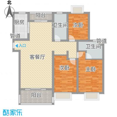 申润江涛苑146.00㎡申润江涛苑户型图3室2厅2卫1厨户型10室