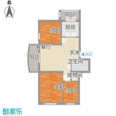 久业佳园90.70㎡久业佳园户型图3室2厅1卫户型10室