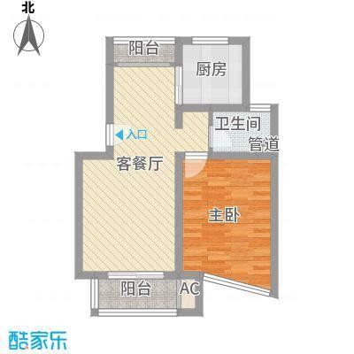 申润江涛苑72.21㎡申润江涛苑户型图1室2厅1卫1厨户型10室