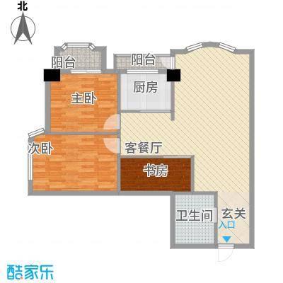 银领国际公寓109.00㎡银领国际公寓户型图2室2厅1卫1厨户型10室