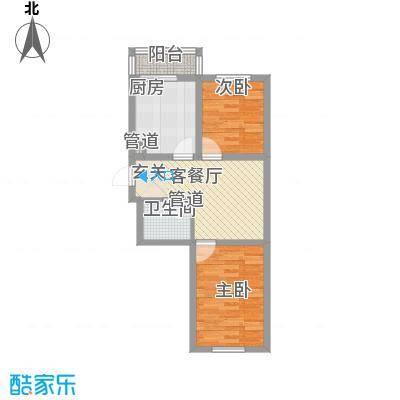 馨龙小区64.00㎡馨龙小区2室户型2室