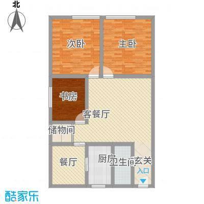 银领国际公寓125.00㎡银领国际公寓户型图3室2厅1卫1厨户型10室