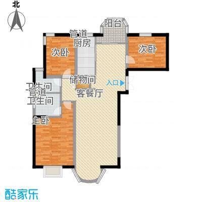 红阳上河城146.00㎡红阳上河城3室户型3室