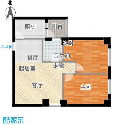 山海一家三期87.30㎡山海一家三期户型图F户型2室2厅1卫1厨户型2室2厅1卫1厨