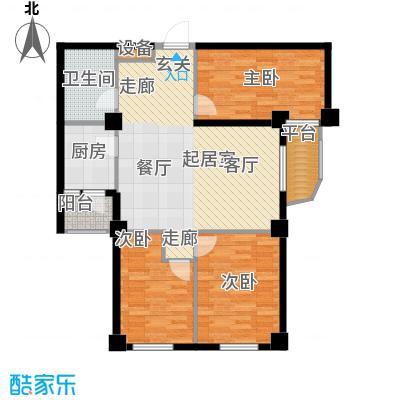 山海一家三期118.50㎡山海一家三期户型图E户型3室2厅1卫1厨户型3室2厅1卫1厨