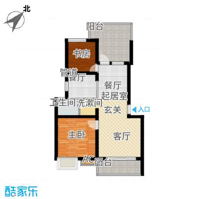 万科白马花园72.00㎡万科白马花园户型图上海南都白马花园B-4a型户型图2室2厅1卫户型2室2厅1卫