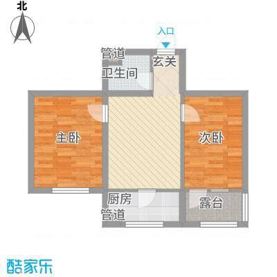 水晶恋城57.04㎡水晶恋城户型图F户型图2室1厅1卫户型2室1厅1卫