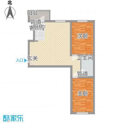 冠芳园二期100.85㎡冠芳园二期户型图2室2厅1卫户型10室