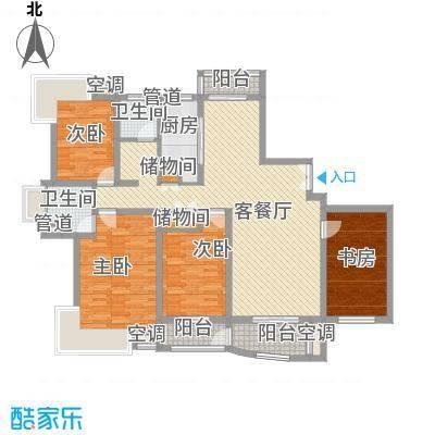 天亚水景城户型图 户型图 4室2厅2卫1厨