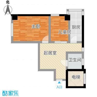 格林梦夏户型图MIMI小户型 2室1厅1卫