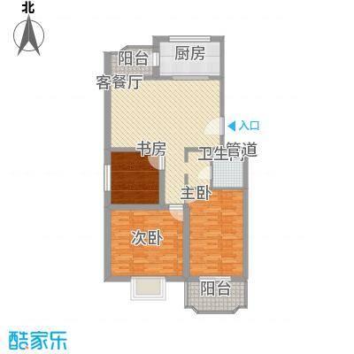 金丰山庄户型图3室2厅1卫