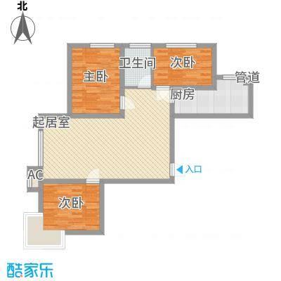 阳光港湾96.26㎡阳光港湾户型图3室2厅1卫户型10室