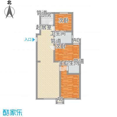 阳光港湾120.40㎡阳光港湾户型图3室2厅2卫户型10室