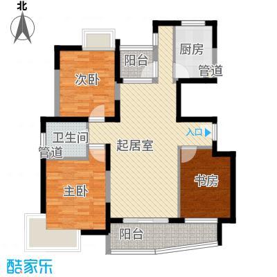 蔚蓝城市花园110.88㎡上海蔚蓝城市花园户型10室