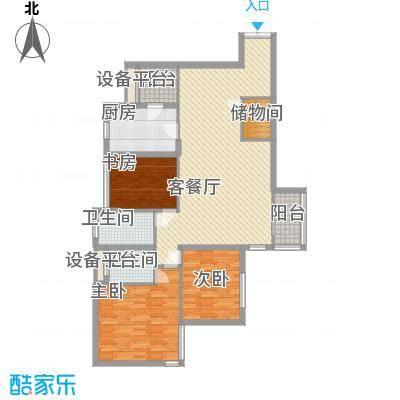 泰荣苑140.00㎡泰荣苑户型图3室2厅2卫1厨户型10室