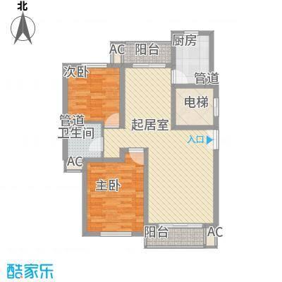 新时代景庭上海新时代景庭A单元02室户型2室
