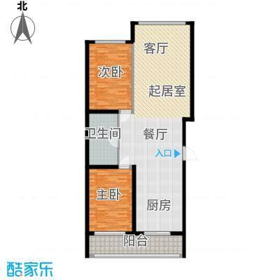卉盛家园120.00㎡卉盛家园2室户型2室
