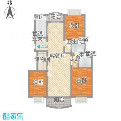 河风丽景二期166.57㎡河风丽景二期户型图3室2厅2卫1厨户型10室
