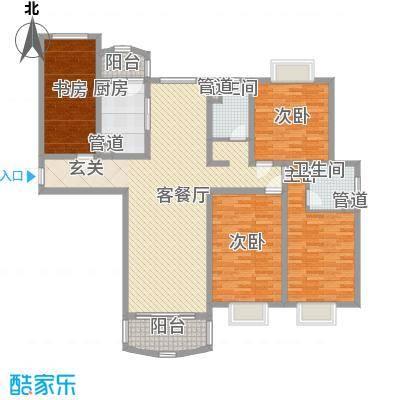 河风丽景二期185.91㎡河风丽景二期户型图A型4室2厅2卫1厨户型4室2厅2卫1厨