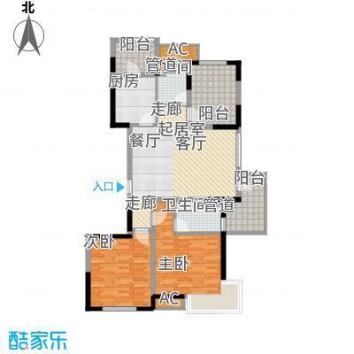 金地国际花园二期157.00㎡金地国际花园(二期)3室户型3室