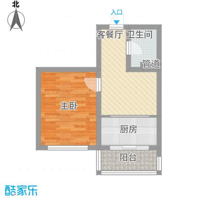 后林新村48.98㎡后林新村户型图15号楼1室1厅1卫户型1室1厅1卫
