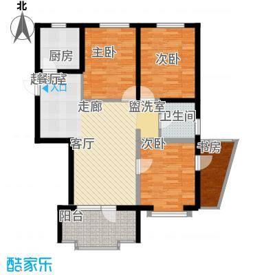 海岸东方114.77㎡海岸东方户型图D2、D4#楼户型3室2厅1卫1厨户型3室2厅1卫1厨