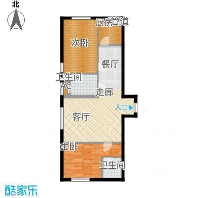 同方世纪大厦99.00㎡同方世纪大厦2室户型2室