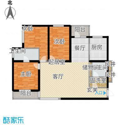 海岸东方149.25㎡海岸东方户型图D2、D4#楼户型3室2厅1卫1厨户型3室2厅1卫1厨