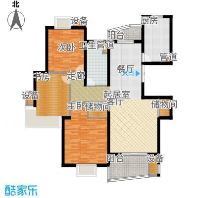 信通浦皓园127.21㎡信通浦皓园户型图1号楼(2-10层)3室2厅1卫1厨户型3室2厅1卫1厨