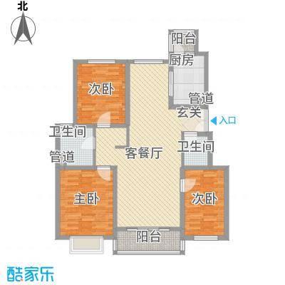 联鑫虹桥苑131.00㎡联鑫虹桥苑3室户型3室