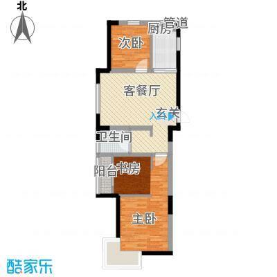今创启园80.00㎡今创启园户型图80平方2室2厅1卫1厨户型2室2厅1卫1厨