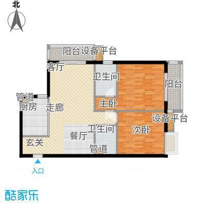 达明阁二期101.06㎡达明阁二期户型图户型C_~12室2厅2卫1厨户型2室2厅2卫1厨