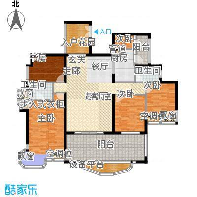 雅景湾170.88㎡雅景湾户型图日光豪廷3室2厅2卫1厨户型3室2厅2卫1厨