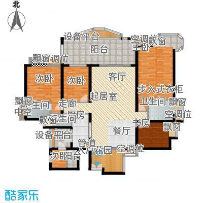雅景湾206.00㎡雅景湾户型图豪门观湖4室2厅2卫1厨户型4室2厅2卫1厨