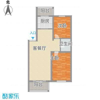 如意名苑107.35㎡如意名苑户型图2室2厅1卫户型10室