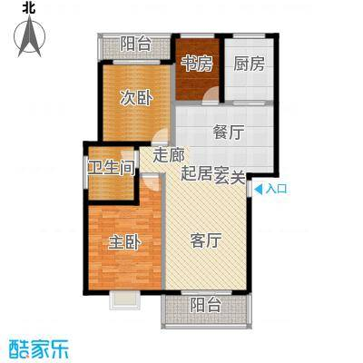 佳兆业中心107.00㎡佳兆业中心3室户型3室