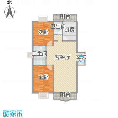 四海花园128.00㎡四海花园户型图2室2厅2卫户型10室