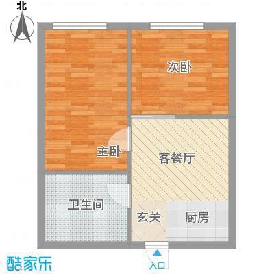 银领国际公寓59.70㎡银领国际公寓户型图2室1厅1卫1厨户型10室